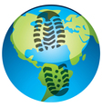 global footprint vector image