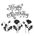 happy birthday lettering with vector image
