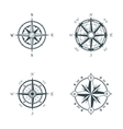 Set of vintage or old different style compasses vector image
