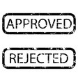 stamp texture realistic approved and rejected vector image