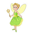 Little girl in the costume of fairy vector image