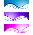 abstract elegant waves set vector image