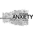 what you should know about anxiety disorders text vector image