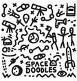 Space - doodles set vector image