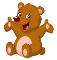 cartoon teddy bear vector image vector image