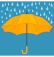Abstract background with colored umbrella and rain vector image