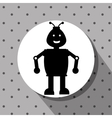 Funny robot cartoon vector image