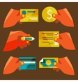 clients purchasing work vector image
