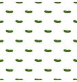 Cucumber pattern cartoon style vector image