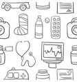 doodle of medical with white background vector image
