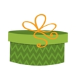 Gft holiday box for birthday with ribbon cartoon vector image