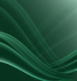 Green and black waves modern futuristic abstract vector image
