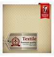 Label on textile vector image