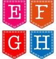 Letters E F G H vector image