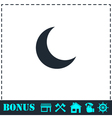 Moon icon flat vector image