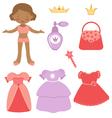 Princess paper doll vector image