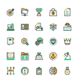 SEO and Marketing Colored Icons 6 vector image