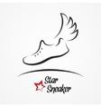 Star sneaker logo vector image