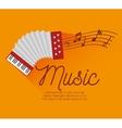 festival music accordion notes icon design vector image