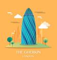 famous london landmark the gherkin vector image