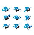 Alphabet B Logo Icons vector image vector image
