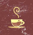 poster banner with hot coffee vector image
