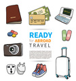 Ready for abroad travel vector image