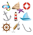 sea related icons vector image vector image
