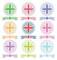 uk ribbons and emblems vector image vector image