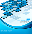 abstract blue elegant background with mosaic vector image vector image