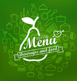 Spring menu label design lineart concept vector image