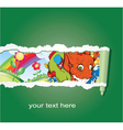 abstract background with funny monsters vector image vector image