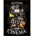 Doodle Cinema Poster vector image