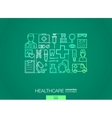 Healthcare integrated thin line symbols Modern vector image
