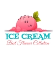 Ice cream banner with candy face vector image