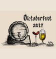 oktoberfest beer festival holiday decoration vector image