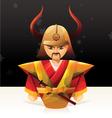 Samurai Doll vector image