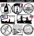 world landmarks vector image