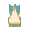 Old King With Very Long Beard Sitting On The vector image