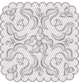Old lace square background ornamental flowers vector image vector image