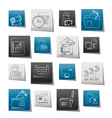 bank and finance icons vector image