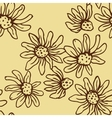 Flowers of camomile seamless vector image