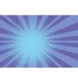 Blue rays retro comic pop art background vector image