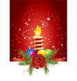 christmas ball candle vector image
