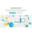 elegant thin line flat modern Knowledge vector image