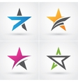Four star icons vector image