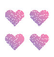 heart finger print vector image