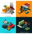 Isometric Construction Machines vector image