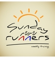 Runners logo vector image