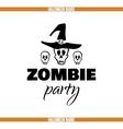 Zombie Party Skulls Badge vector image